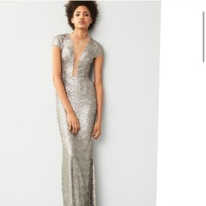 Dress The Population Michelle Sequin Illusion Gown